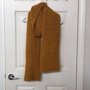 Zara Marigold Chunky Knit Scarf